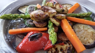 Grilled vegetables at Valparaiso Palace restaurant