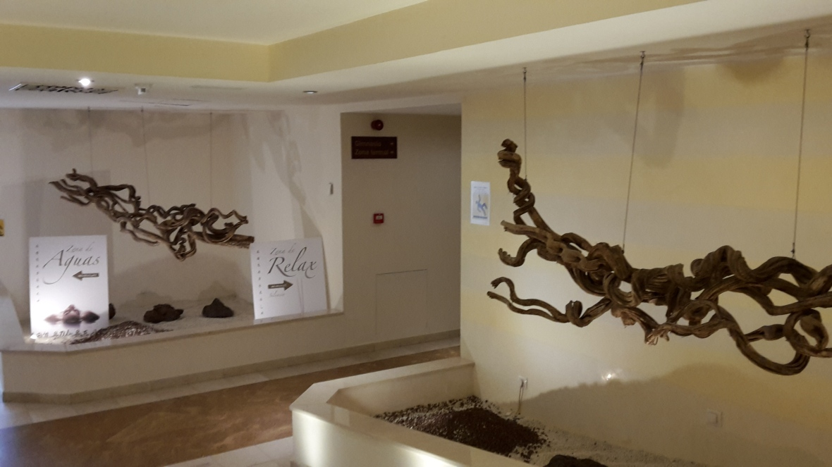 Spacious reception area in the Spa