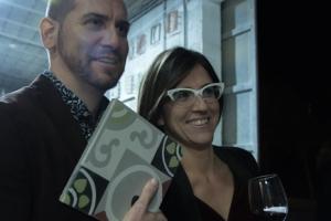 Barbara Mesquida (right) pictured at Campos tile-maker Huguet