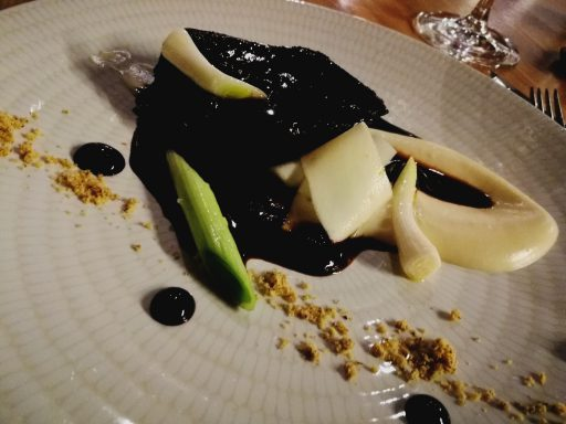 Tender braised beef as the tasting menu's main course at Sa Fabrica