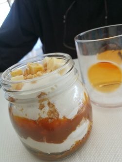 Banoffee in a glass at Baiben, Puerto Portals, Mallorca