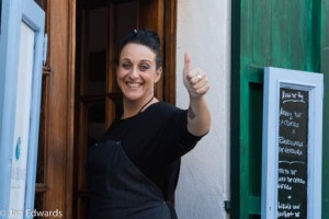 Maria Salinas at her eponymous restaurant in Mancor del Vall