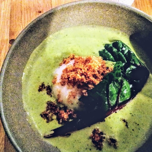Chard soup with egg at Sa Fabrica
