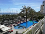 Pool terrace at Gran Melia Victoria in Palma, Majorca