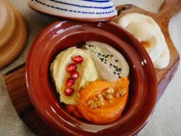 Dips from Morocco at Olivera restaurant