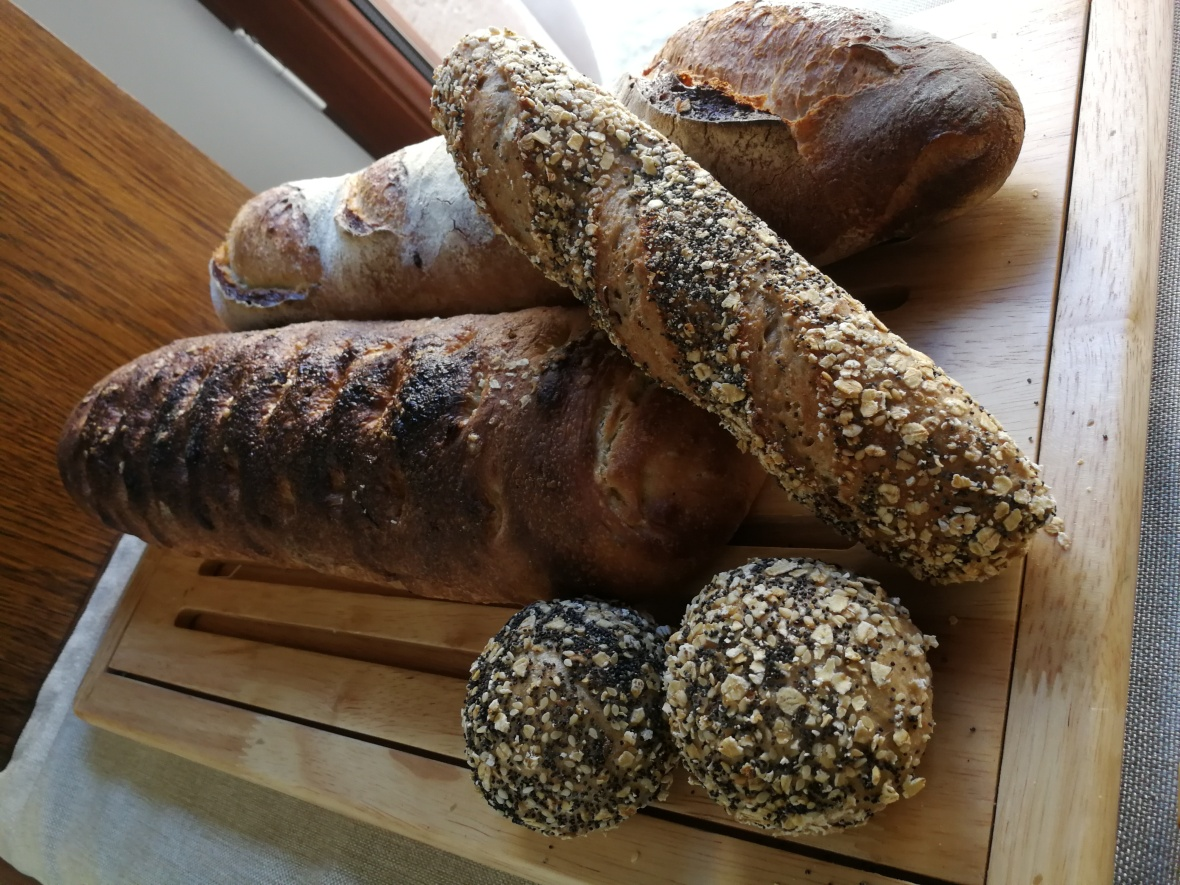 Bread baked at Castell Son Claret