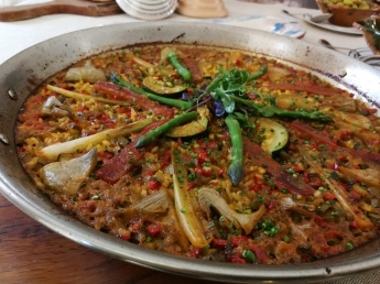 Vegetable paella at Olivera restaurant