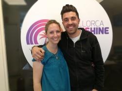 Chef Jonay Hernandez with his wife Lara Cabau at Mallorca Sunshine Radio