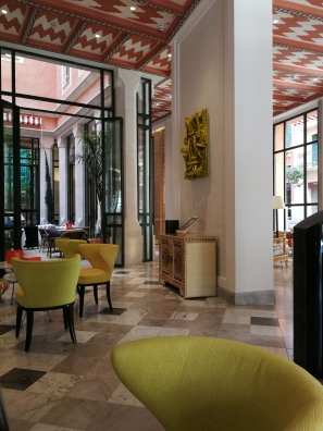 Take a seat in Hotel Mama's Cappuccino Grand Cafe