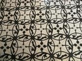Gorgeous tiles on the bedroom floor