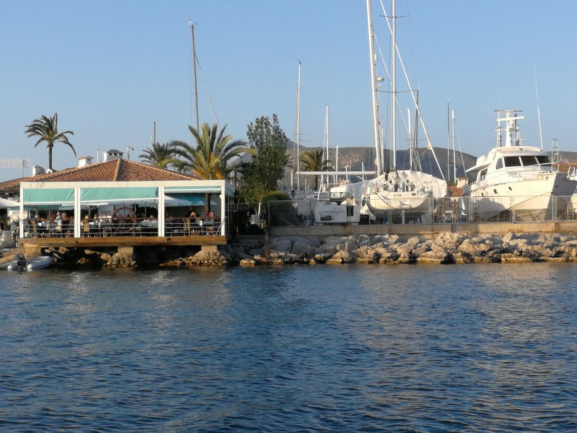 Botel Alcudiamar from the sea