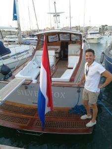 Owner Juan Carlos Pujado and his Silver Fox motorboat