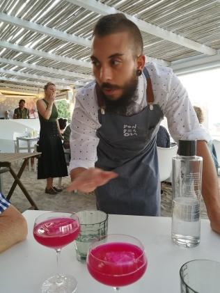 Cocktail on tasting menu at Ponderosa Beach Chef Night 2018