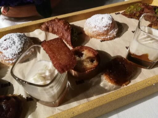 Some of the dessert selection at Castell Classics' second gala dinner