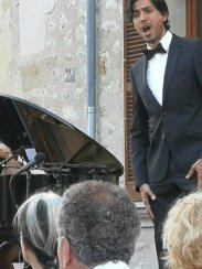 Puerto Rican tenor Joel Prieto on stage