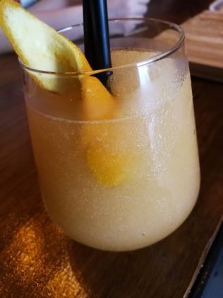 Stone-Fruit Slush with gin