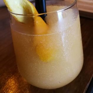 Stone-Fruit Slush with gin