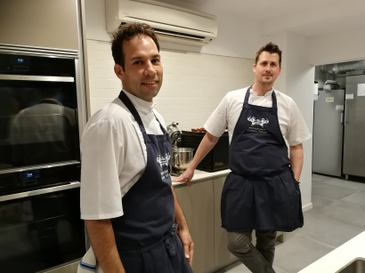 Phil Clark (right) was assisted by Mallorca-based chef Babis Papadopoulos
