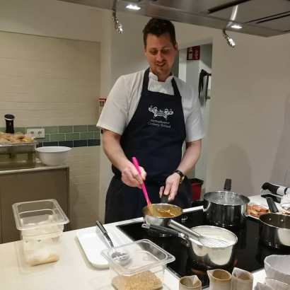 Phil Clark puts the finishing touches to his caramelised onions