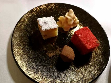 All for me? One plate of these petits fours each!