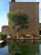 Water tank at the finca