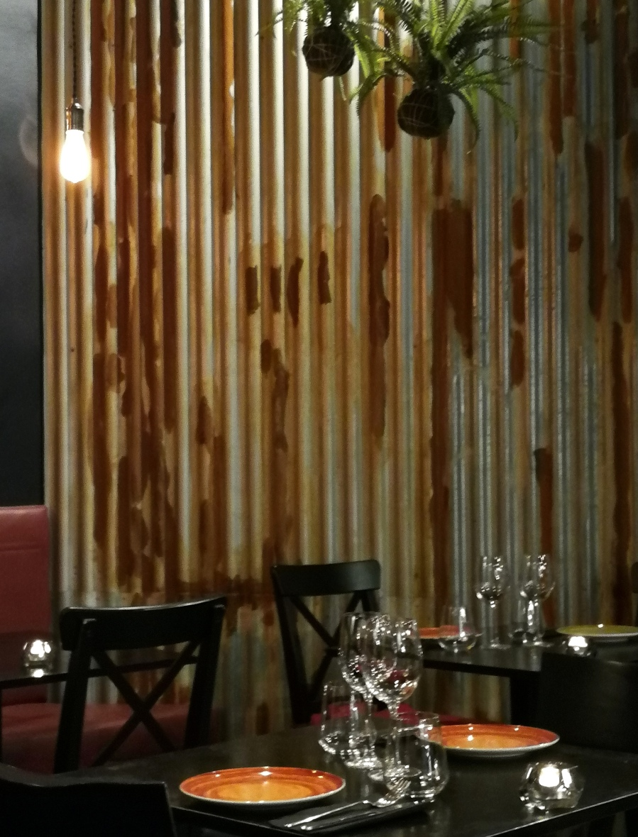 Corrugated iron? An inspired addition to the Vandal decor
