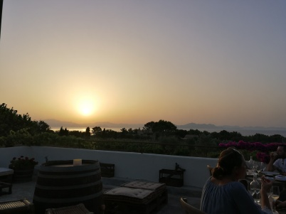 Sunset from the terrace of Bodega Conde de Suyrot