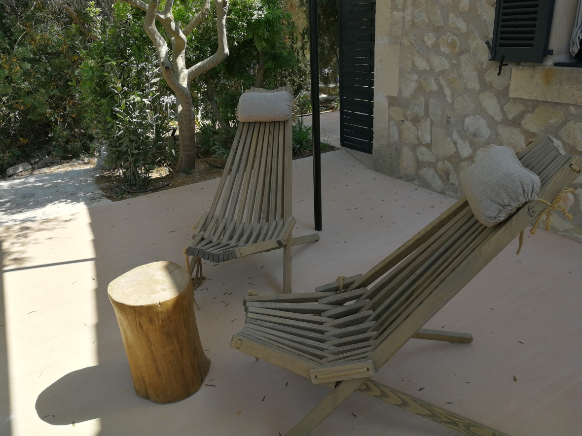 Terrace furniture at Finca Serena
