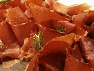 Delicious jamon serrano