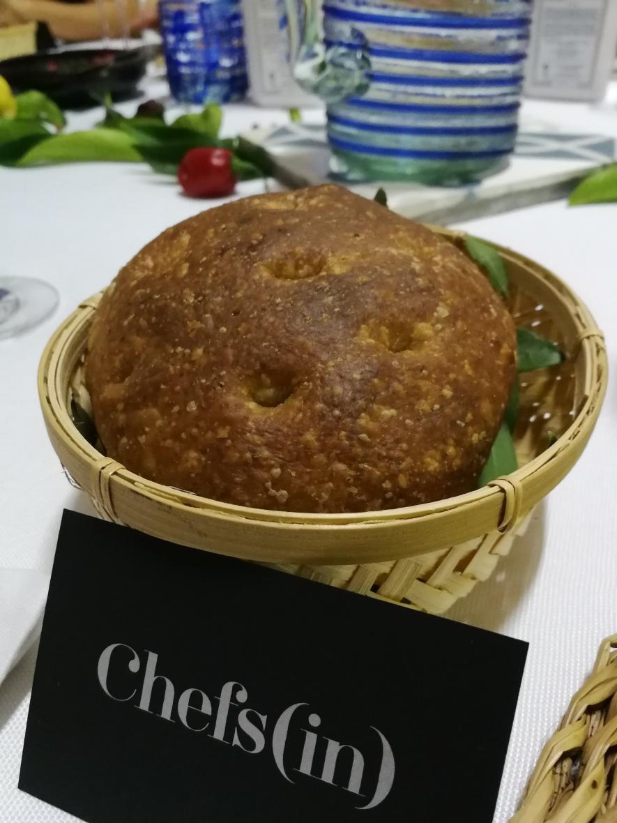 Basket of David Moreno's bread