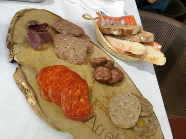 Mallorcan cold cuts and meats for the pa amb oli